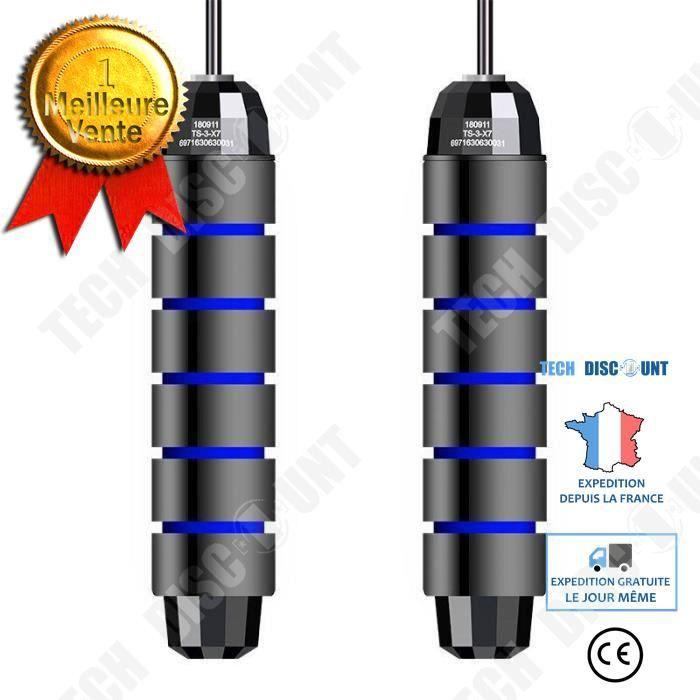 TD® Accessoires Fitness - Musculation,Corde à sauter à roulement corde à sauter pondérée corde à sauter en acier sans - Type Bleu