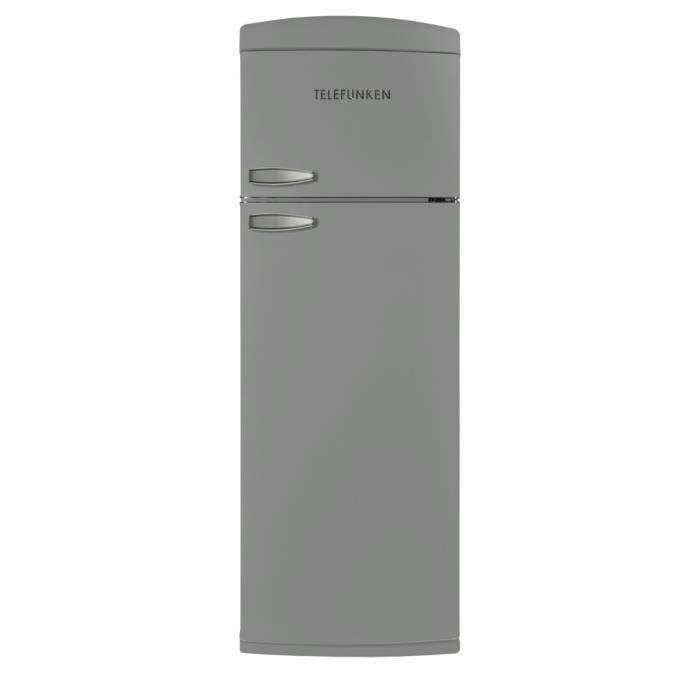 TELEFUNKEN TFNVIN304SLV Réfrigérateur 2 portes vintage Argenté 304L