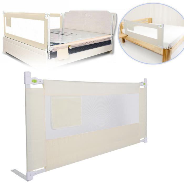 Barrière de lit pour enfants 180 x 68cm Barriere de lit bebe rail de lit de sécurité de bébé SIE2