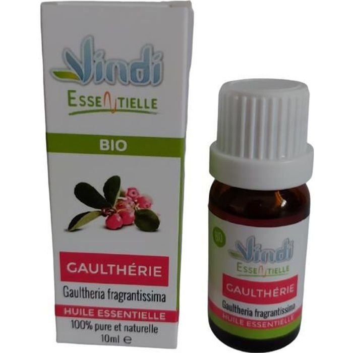 Vindi essentielle - huile essentielle de GAULTHERIE - Gaultheria fragrantissima BIO