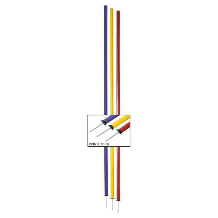Lot de 4 Piquets de slalom - Rouge - Longueur : 1,60 m Diamètre : Ø 25 mm