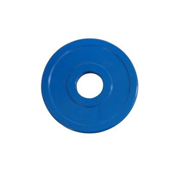Disque en caoutchouc pour haltère - 0,5 kg - Bleu