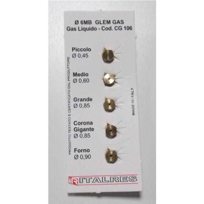 Sachet injecteurs gaz butane pour cuisinière WHIRLPOOL 481231038365 - ACM823 481231038365 - BVMPièces