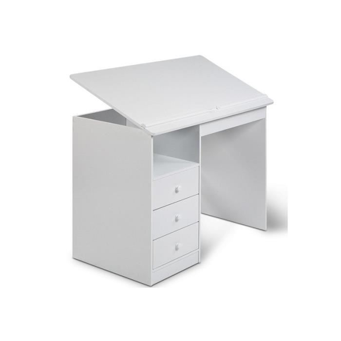 bureau enfant blanc achat vente bureau b b enfant cdiscount. Black Bedroom Furniture Sets. Home Design Ideas