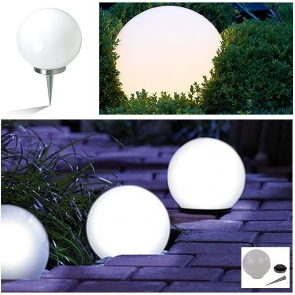 lampe boule solaire design diam tre 30 cm achat vente lampe boule solaire design cdiscount. Black Bedroom Furniture Sets. Home Design Ideas