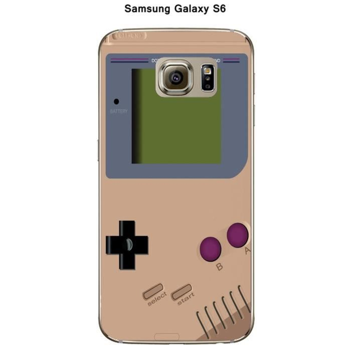 coque samsung galaxy s6 game boy toasted almond achat. Black Bedroom Furniture Sets. Home Design Ideas