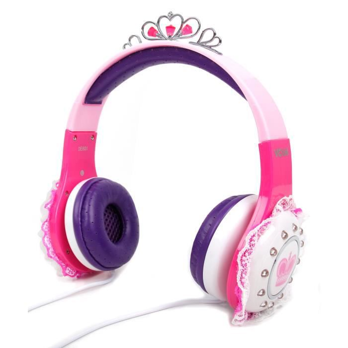 casque princesse pour enfant compatible avec lecteurs mp3. Black Bedroom Furniture Sets. Home Design Ideas