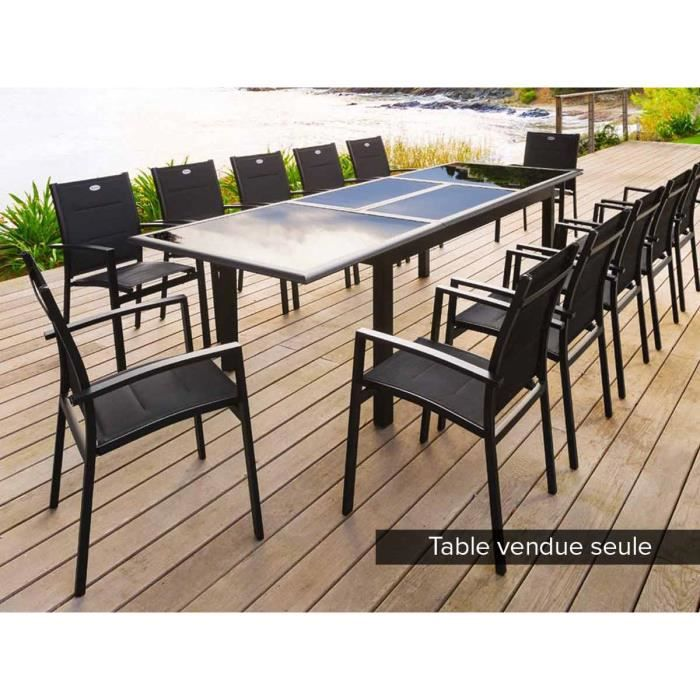 Beautiful table jardin noire extensible ideas amazing for Table rectangulaire extensible