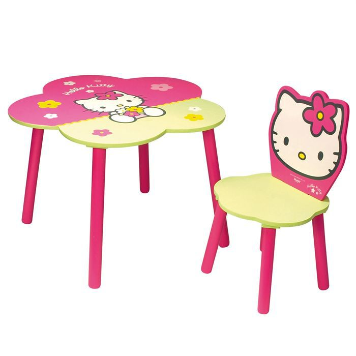 Lot chaise et table fleur hello kitty achat vente - Table chaise hello kitty ...
