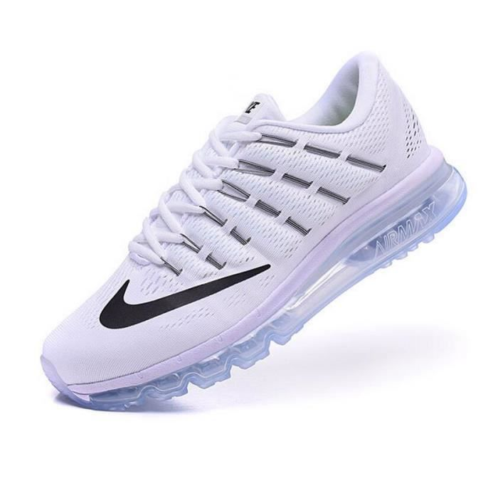 homme nike air max 2016 baskets chaussures blanc tu. Black Bedroom Furniture Sets. Home Design Ideas