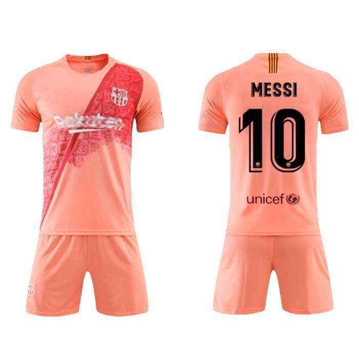Barcellona T-Shirt Maillot de Football Lionel Leo Messi 10 Bar/ça Nouveau Saison 2018-2019 Replica Officiel avec Licence Tous Les Tailles Enfants et Adultes