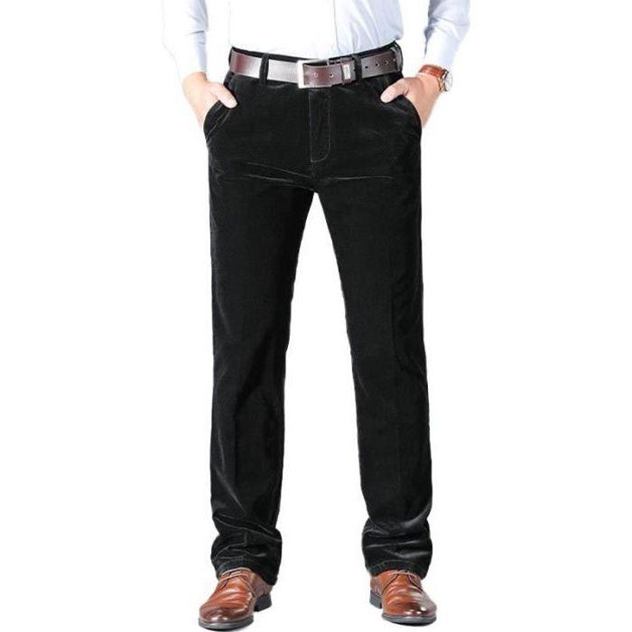 pantalon homme velours noir
