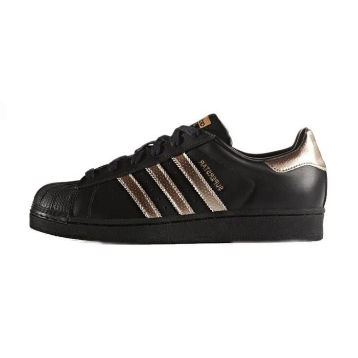 Femmes Adidas Originals Superstar Baskets or noir Or / noir ...