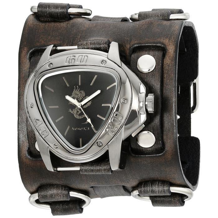 montre large bracelet cuir