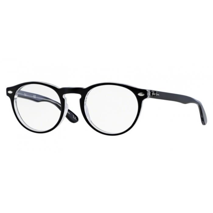 Lunettes de vue Ray-ban RX5283 2034 Top Black On Transparent 51-21 Noir 8259b13bd966