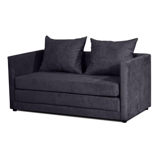 canap d plimousse convertible maxos noir achat vente bz clic clac sofa canap. Black Bedroom Furniture Sets. Home Design Ideas