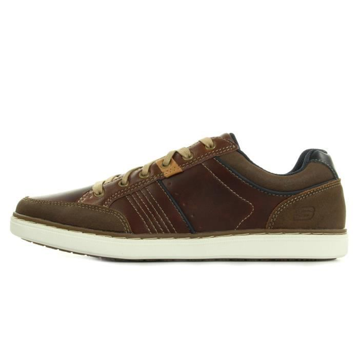 SKECHERS Baskets Lanson Rometo - Homme - Marron