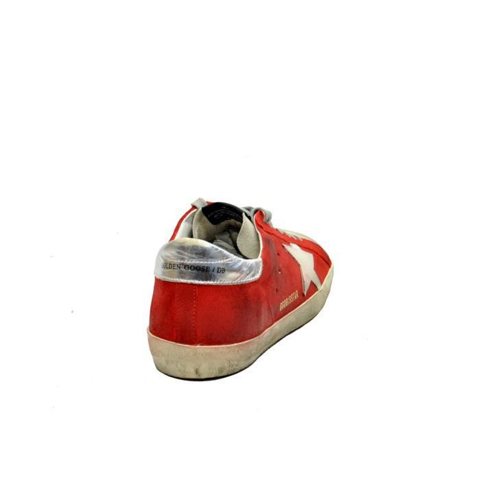 GOLDEN GOOSE HOMME G32MS590D97 ROUGE CUIR BASKETS