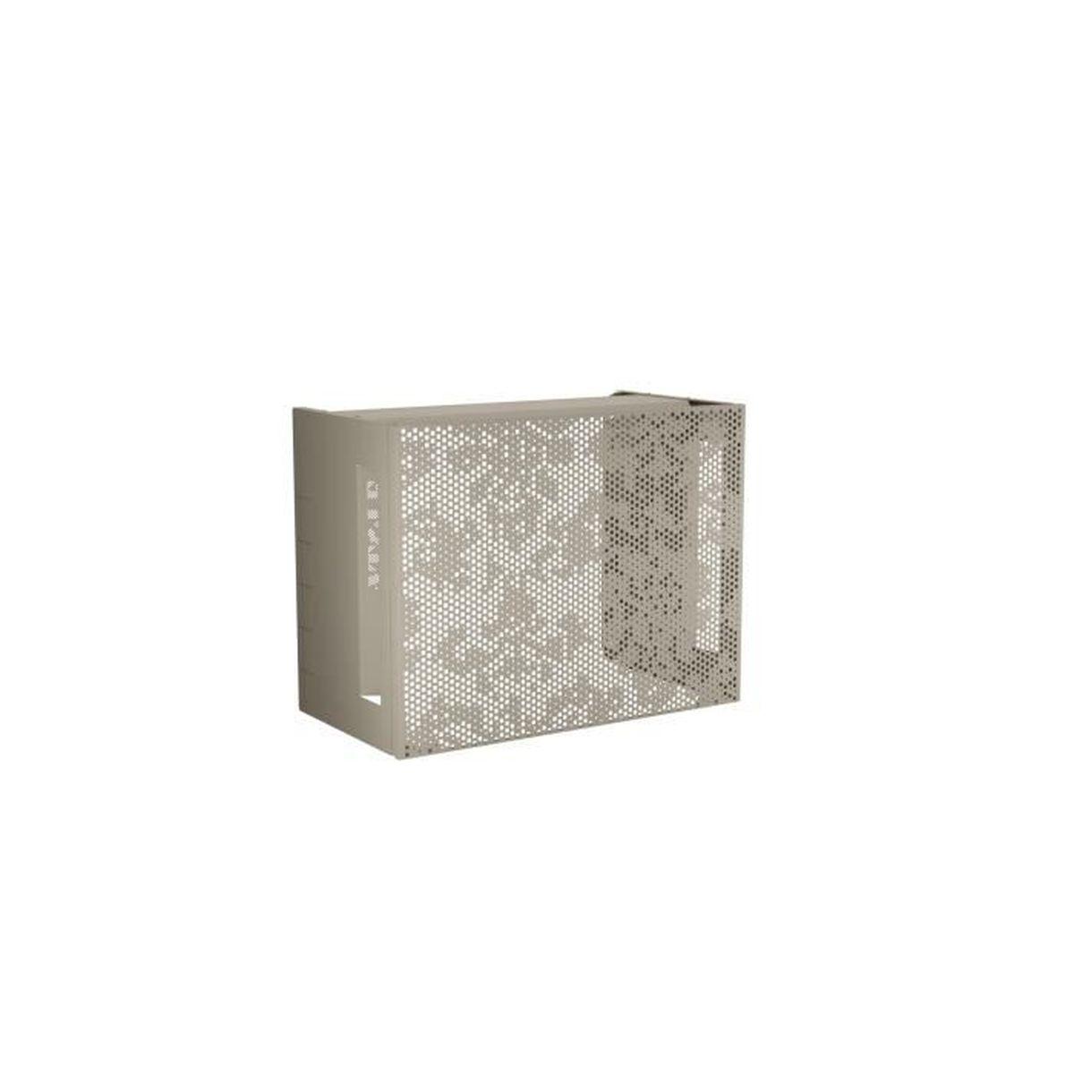 Cache Unité Extérieure Climatisation cache climatisation design en aluminium thermolaqué crème