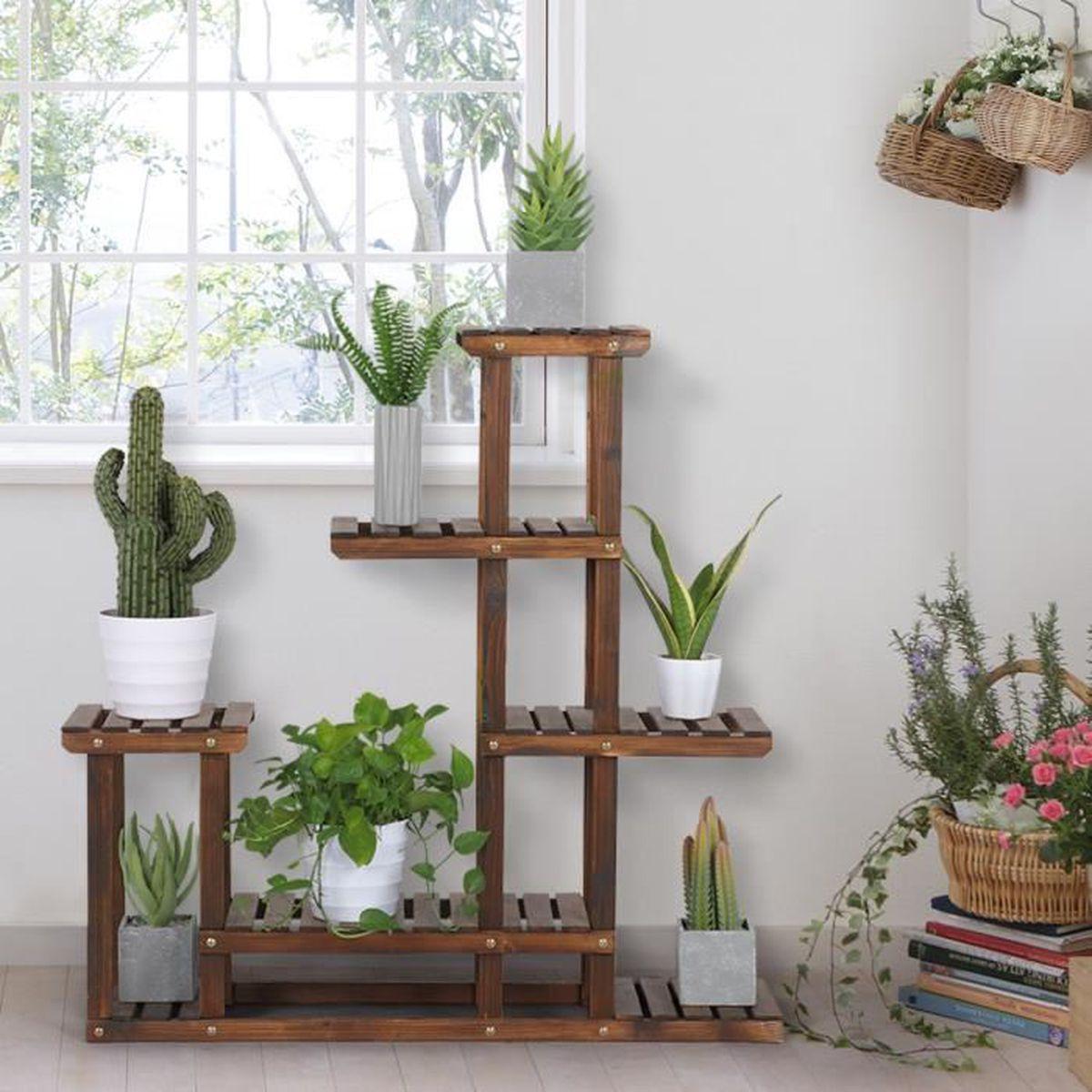 Etagere Pour Plantes Interieures etagere fleurs bois