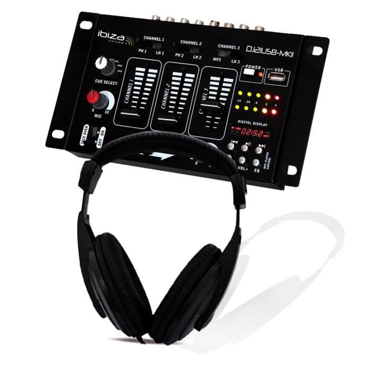 casque dj sono table de mixage dj21 usb mkii ibiza sound. Black Bedroom Furniture Sets. Home Design Ideas