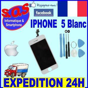 PIÈCE TÉLÉPHONE Ecran Lcd Iphone 5 Blanc + tactile assemblés sur c