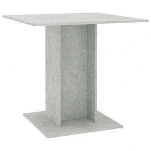 TABLE À MANGER SEULE Magnifique  Table de salle a manger Gris beton 80