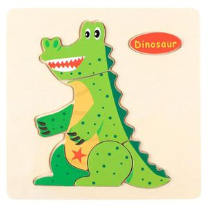 PUZZLE Puzzle en bois animal dessin animé  dinosaure # cb
