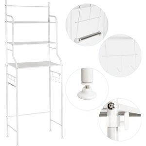 COLONNE - ARMOIRE WC Meuble de toilette  Meuble WC 3 rangées étagère de