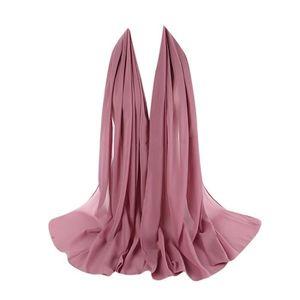 ECHARPE - FOULARD Écharpe Femmes en mousseline de soie uni bulle fou