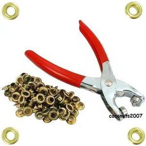 Heavy Duty 4mm Pince à oeillet et oeillets pour bâches 100 feuilles couvre