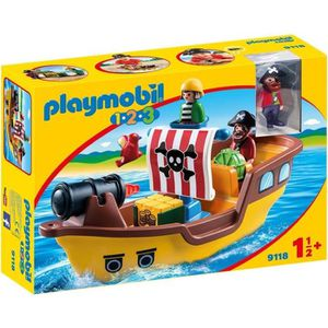 UNIVERS MINIATURE PLAYMOBIL 1.2.3. - 9118 - Bâteau de Pirates