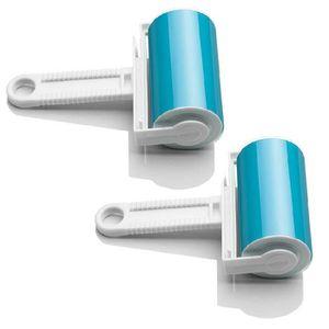 Portable lavable collant poussi/ère /épilation v/êtements brosse de nettoyage fluff nettoyant collant laine s/électeur peluche rouleau-vert
