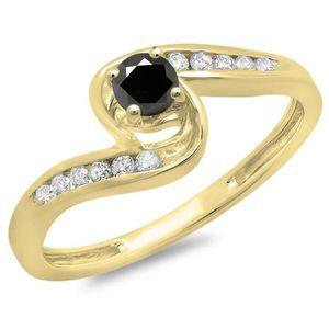 BAGUE - ANNEAU Bague Femme Diamants 0.36 ct  10 ct 471-1000 Or Ja