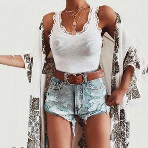 GILET - CARDIGAN Femmes Summer large Mode Pure sexy sans manches en