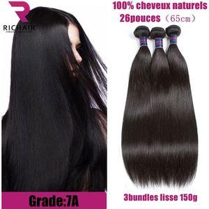 PERRUQUE - POSTICHE RICHAIR 3 Tissage Brésilien lisse virgin hair - 26