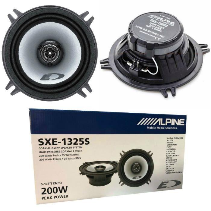 2 ALPINE SXE-1325S haut-parleurs coaxiaux 2 voies 13,00 cm 130 mm 5- diametre 35 watts rms et 200 watts max 4 ohm, paire