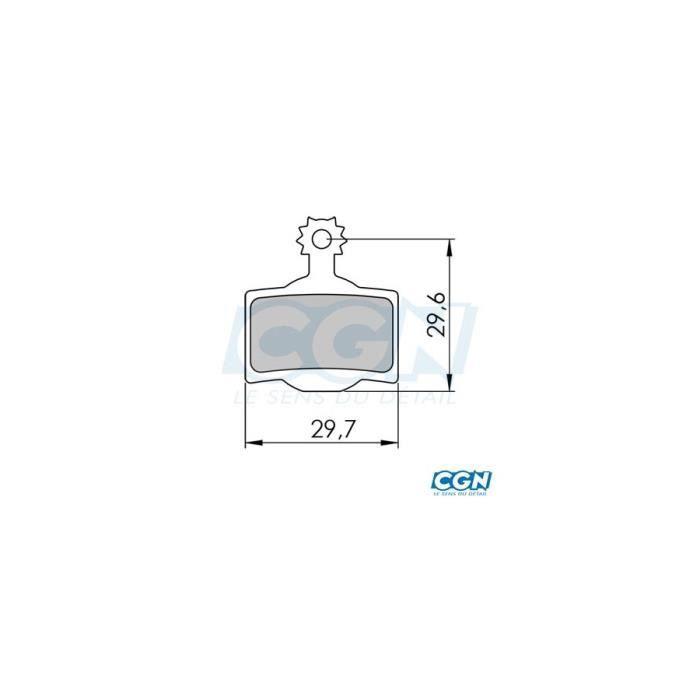 Plaquette frein vtt 30 clarks adapt. magura mt2/mt4/mt6/mt8 (pr) semi metallique