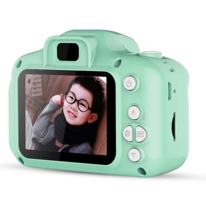Appareil Photo pour Enfant, Ecran à 2,0 Pouces HD, 8MP-1080P, Coque en Silicone Résistant aux Chocs, Vert