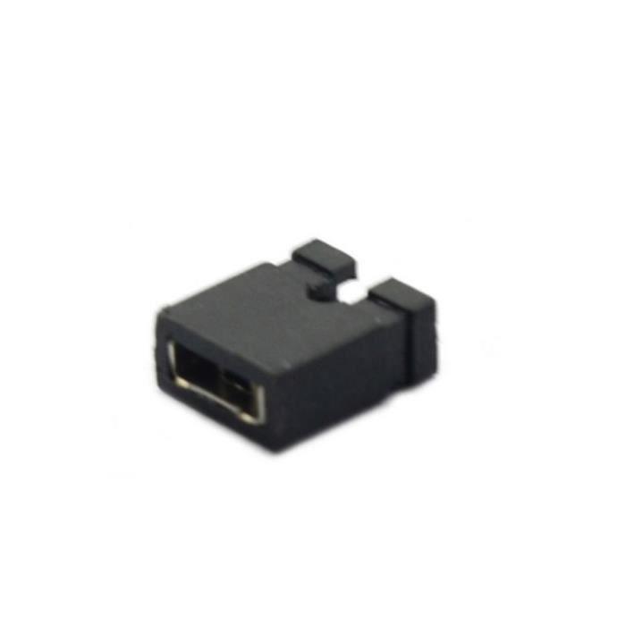 100pcs 2.54mm Jumper Cap Mini Jumper Cap Cap Connexion 2, 54mm