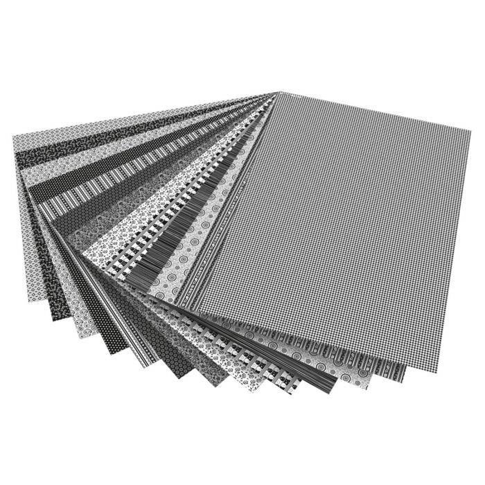 Folia 46709 Papier graphique Noir, Blanc