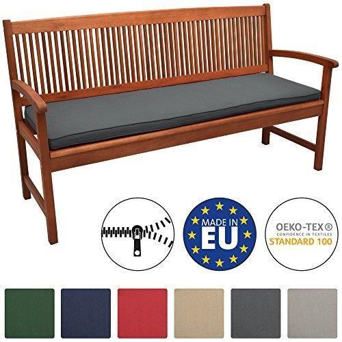 Beautissu Coussin Banc Banquette Loft BK 150x48x5 cm - Gris graphite - Jardin Terrasse Balcon Extérieur - Haute qualité