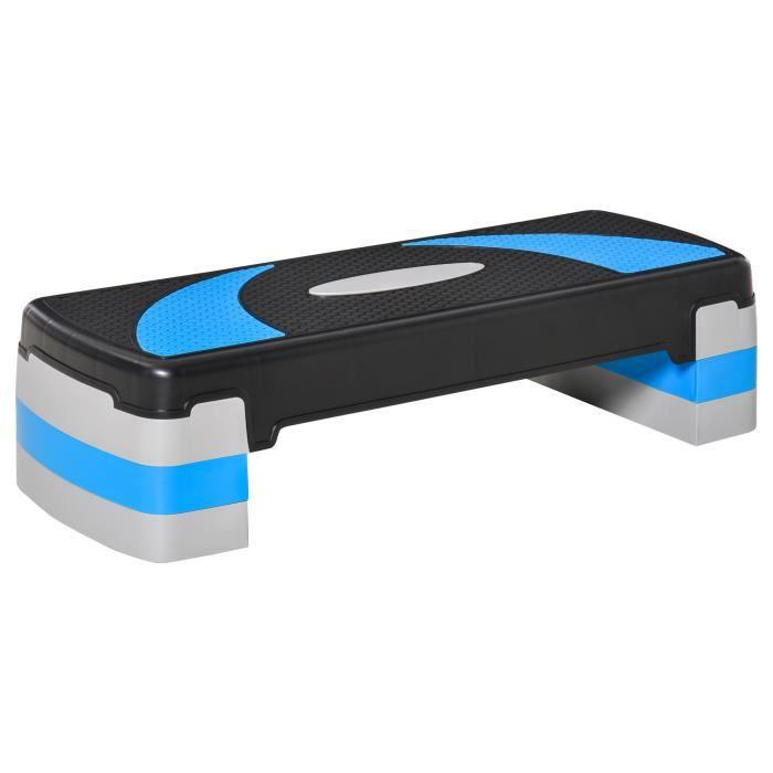 Stepper fitness aerobic hauteur reglable surface antiderapante 80 x 31 x 20 cm 77BU