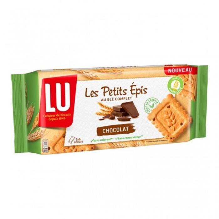 LU Les Petits Épis au Blé Complet Chocolat 300g (lot de 6)