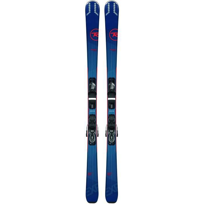 Pack Ski Rossignol Experience 74 + Fixations Xp 10 B83 Homme Bleu