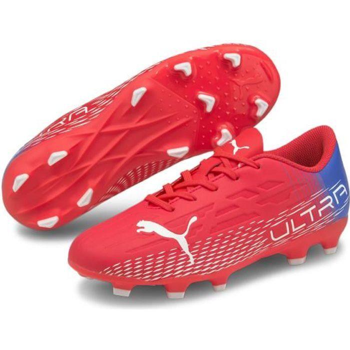 Chaussures de football enfant Puma Ultra 4.3 FG/AG - rose flash/blanc/bleu roi - 32