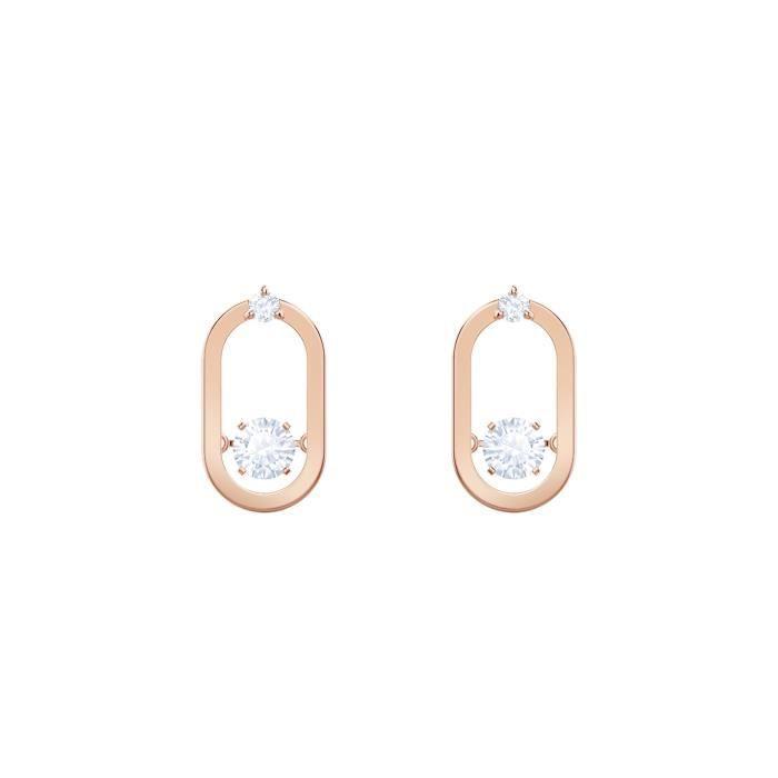 Boucles d'Oreilles femme - SWAROVSKI - Boucles d'oreilles Swarovski Sparkling - Couleur de la matière:Rose
