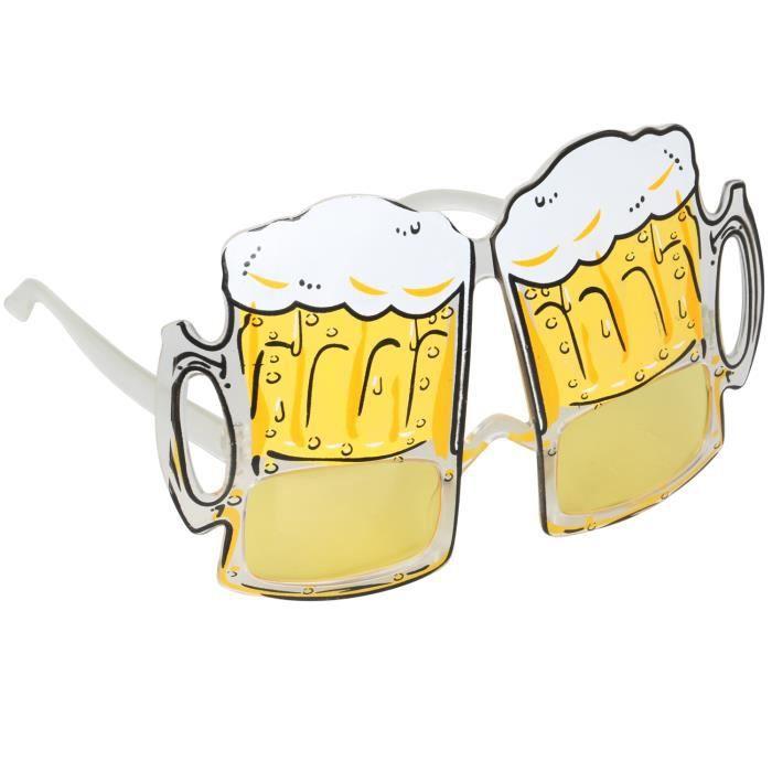 TRIXES Gadget Lunettes Amusantes Verres de Bière Déguisement pour Enterrement de Vie de Garçon Fêtes Festivals
