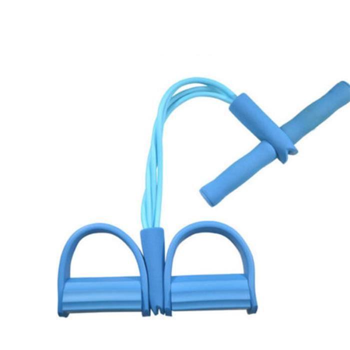 Bande De RéSistance éLastique 1 PC Bleu Bodybuilding Expander ÉLastique Bande De RéSistance Yoga ÉQuipement De Sport Taille Bras Jam