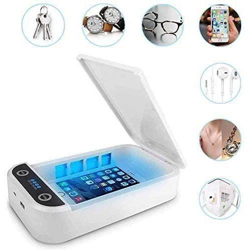 Byakov Désinfectant de Téléphone, Desinfectant Telephone Portable UV, Sterilisateur Telephone pour Téléphone avec Chargement USB pou